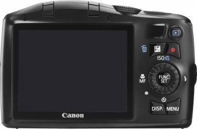 Компактный фотоаппарат Canon PowerShot SX150 IS Black - вид сзади