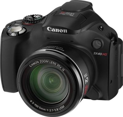Компактный фотоаппарат Canon PowerShot SX40 HS Black - общий вид