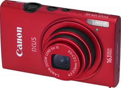 Компактный фотоаппарат Canon IXUS 125 HS Red - общий вид