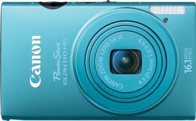 Компактный фотоаппарат Canon IXUS 125 HS Blue - вид спереди