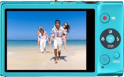 Компактный фотоаппарат Canon IXUS 125 HS Blue - вид сзади