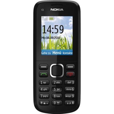 Мобильный телефон Nokia C1-02 Black - спереди