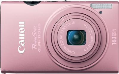 Компактный фотоаппарат Canon IXUS 125 HS Pink - вид спереди