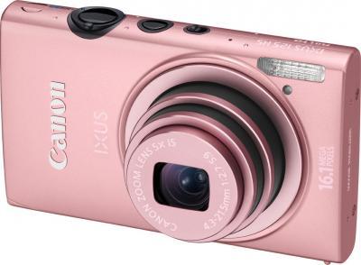 Компактный фотоаппарат Canon IXUS 125 HS Pink - общий вид