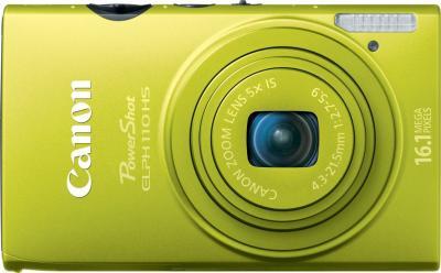 Компактный фотоаппарат Canon IXUS 125 HS Green - вид спереди