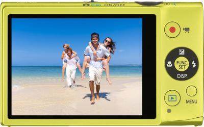 Компактный фотоаппарат Canon IXUS 125 HS Green - вид сзади