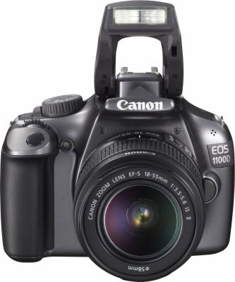 Зеркальный фотоаппарат Canon EOS 1100D Kit 18-55mm IS III Gray - общий вид