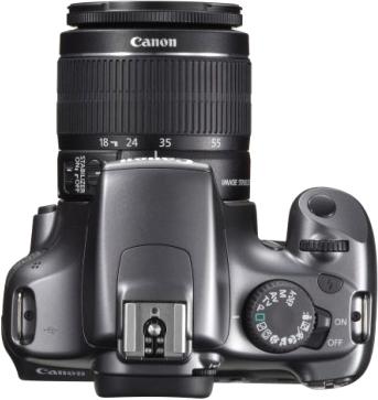 Зеркальный фотоаппарат Canon EOS 1100D Kit 18-55mm IS III Gray - вид сверху