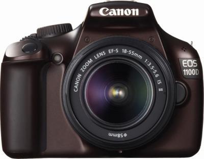 Зеркальный фотоаппарат Canon EOS 1100D Kit 18-55mm IS II Brown - вид спереди