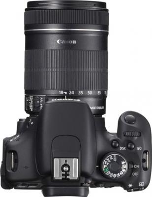 Зеркальный фотоаппарат Canon EOS 600D Kit 18-135mm IS - вид сверху