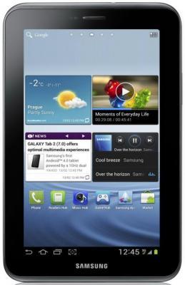 Планшет Samsung Galaxy Tab 2 7.0 16GB 3G Titanium Silver (GT-P3100TSESER) - фронтальный вид