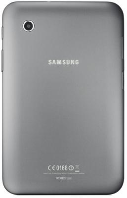 Планшет Samsung Galaxy Tab 2 7.0 16GB 3G Titanium Silver (GT-P3100TSESER) - вид сзади