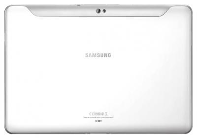 Планшет Samsung Galaxy Tab 2 10.1 16GB 3G Pure White (GT-P5100ZWASER) - вид сзади