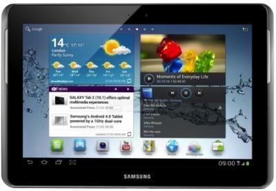 Планшет Samsung Galaxy Tab 2 10.1 16GB Titanium Silver (GT-P5110) - фронтальный вид