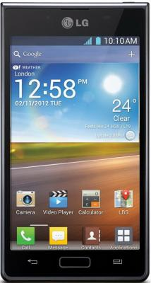 Смартфон LG P705 Optimus L7 Black - общий вид