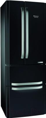 Холодильник с морозильником Hotpoint E4DAAB/C - общий вид