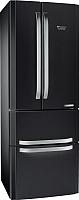 Холодильник с морозильником Hotpoint E4DAASB/C -