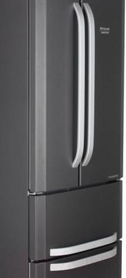 Холодильник с морозильником Hotpoint E4DAASB/C