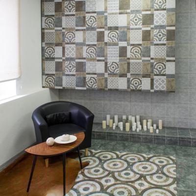 Декоративная плитка Керамин Калейдоскоп 7д (400x400)