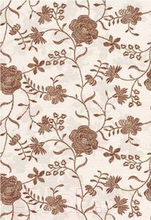 Декоративная плитка для ванной Керамин Панно Мишель 7с/1 (400x275, коричневый)