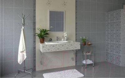 Декоративная плитка для ванной Керамин Панно Мишель 7с/2 (400x275, серый)