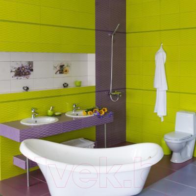 Декоративная плитка для ванной Керамин Примавера 7/2 (400x275)