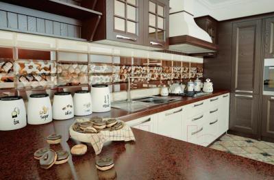 Плитка для стен кухни Керамин Рио 4 (300x100)