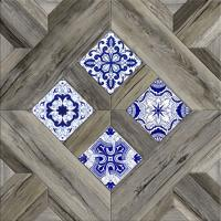 Декоративная  плитка для пола Керамин Калабрия 3д (400x400) -
