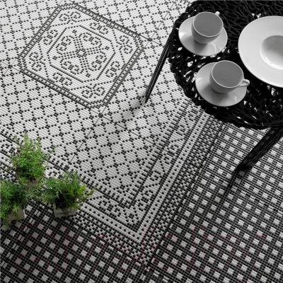 Декоративная  плитка для пола Керамин Пиксель 7д (400x400)