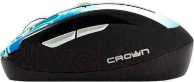 Мышь Crown Micro CMM-927W (синий) - вид сбоку