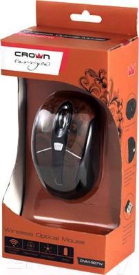 Мышь Crown Micro CMM-927W (коричневый) - в упаковке