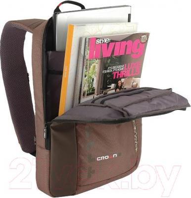 Рюкзак для ноутбука Crown Micro CMBPH-1115 (коричневый)