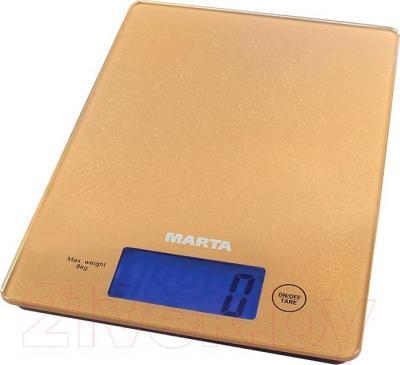 Кухонные весы Marta MT-1633 (золото)