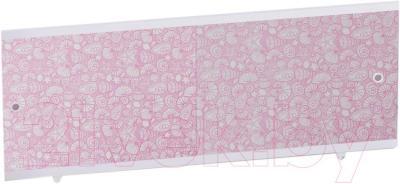 Экран для ванны МетаКам Кварт 1.68 (розовый иней)