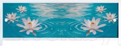 Экран для ванны МетаКам Ультра легкий АРТ 1.48 (водяная лилия)