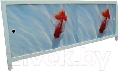 Экран для ванны МетаКам Ультра легкий АРТ 1.48 (золотые рыбки)