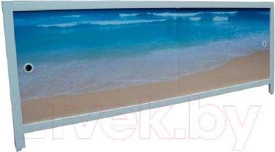 Экран для ванны МетаКам Ультра легкий АРТ 1.48 (лазурный берег)