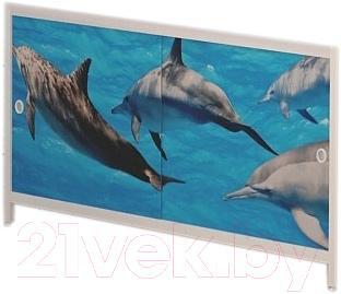 Экран для ванны МетаКам Ультра легкий АРТ 1.68 (дельфины)