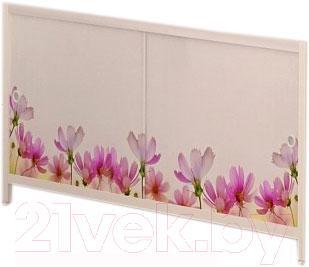 Экран для ванны МетаКам Ультра легкий АРТ 1.68 (цветочная фантазия)