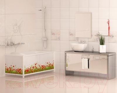 Экран для ванны МетаКам Ультра легкий АРТ 1.68 (цветочная элегия)