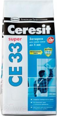 Фуга для плитки Ceresit CE 33 (2кг, белый)