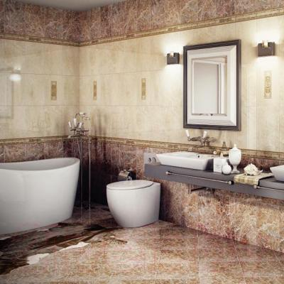 Плитка для стен ванной Azulejo Espanol Imperial Crema (750x250)