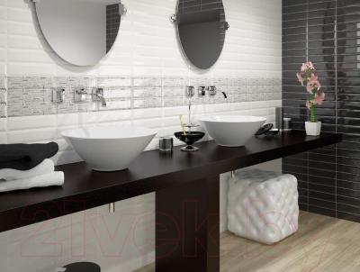 Декоративная плитка для кухни Equipe Панно Metro Paradise Blanco (375x300)