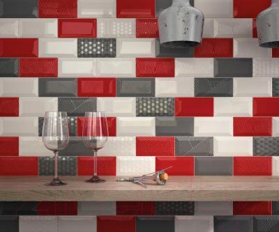 Декоративная плитка для кухни Equipe Панно Metro Blackberry (450x300)