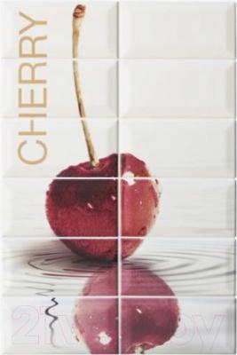 Декоративная плитка для кухни Equipe Панно Metro Cherry (450x300)