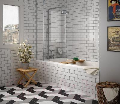 Плитка для стен кухни Equipe Evolution Gris Claro Brillo (400x100)