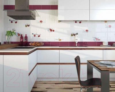 Декоративная плитка для кухни Monopole Ice Strauberry (200x100)