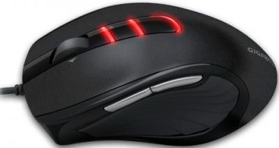 Мышь Gigabyte GM-M6900 (черный) - вид сбоку