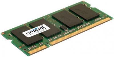 Оперативная память DDR2 Crucial 1GB DDR2 SO-DIMM PC2-6400 (CT12864AC800) - общий вид
