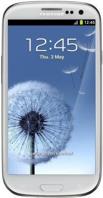 Смартфон Samsung Galaxy S3 / I9300 (белый) - общий вид